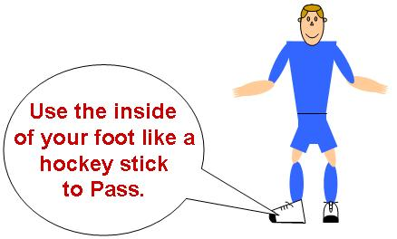 hockey stick pass